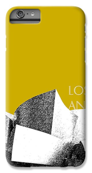 Los Angeles Skyline Disney Theater - Gold IPhone 7 Plus Case by DB Artist