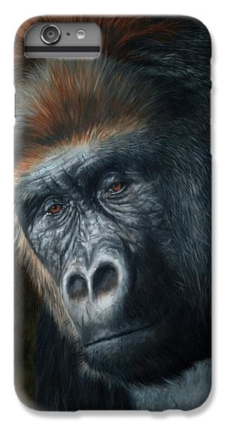 Gorilla iPhone 7 Plus Case - Lowland Gorilla Painting by David Stribbling