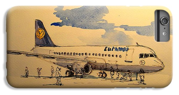 Lufthansa Plane IPhone 7 Plus Case by Juan  Bosco
