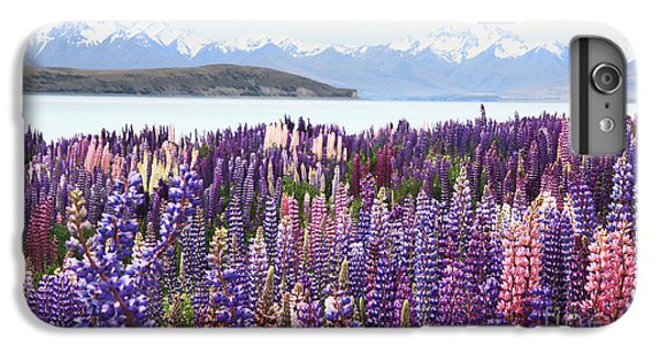 IPhone 7 Plus Case featuring the photograph Lupins At Tekapo by Nareeta Martin