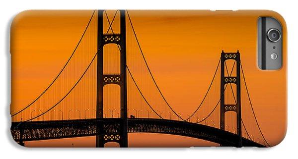 Lake Superior iPhone 7 Plus Case - Mackinac Bridge Sunset by Steve Gadomski