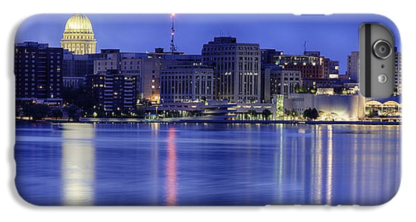 IPhone 7 Plus Case featuring the photograph Madison Skyline Reflection by Sebastian Musial