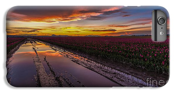 Magenta Fields Tulips IPhone 7 Plus Case by Mike Reid