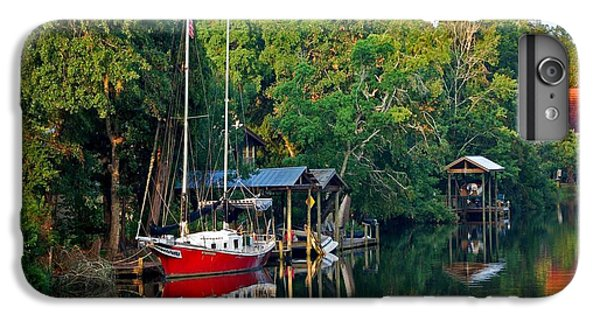 Shrimp Boats iPhone 7 Plus Case - Magnolia Red Boat by Michael Thomas
