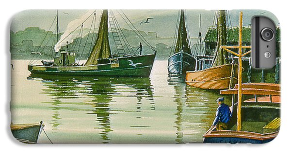 Boats iPhone 7 Plus Case - Maine Harbor by Paul Krapf