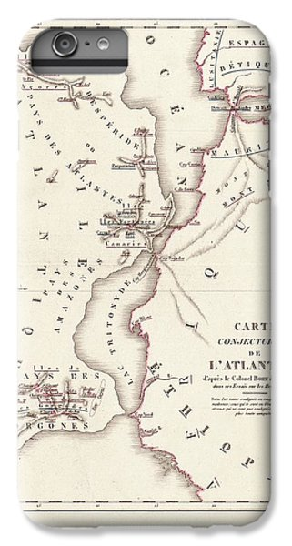 Gorgon iPhone 7 Plus Case - Map Of Atlantis by Library Of Congress, Geography And Map Division