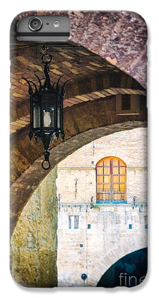IPhone 7 Plus Case featuring the photograph Medieval Arches With Lamp by Silvia Ganora