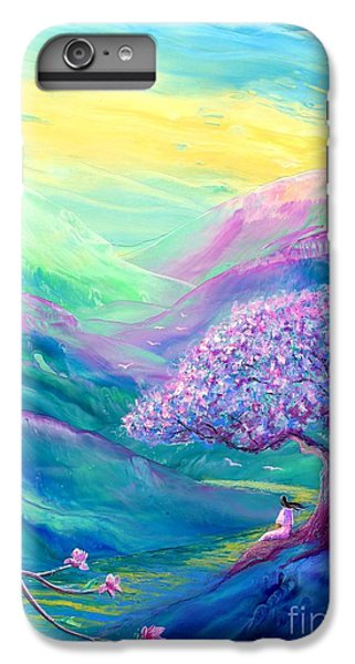 Figurative iPhone 7 Plus Case - Meditation In Mauve by Jane Small