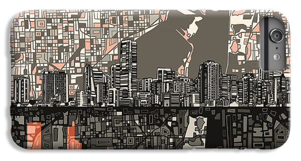 Miami Skyline iPhone 7 Plus Case - Miami Skyline Abstract 2 by Bekim Art