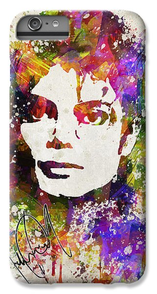 Michael Jackson iPhone 7 Plus Case - Michael Jackson In Color by Aged Pixel