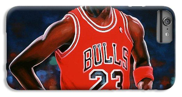 Red iPhone 7 Plus Case - Michael Jordan by Paul Meijering