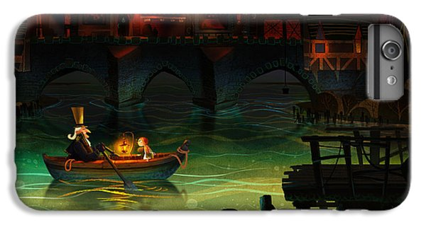Boats iPhone 7 Plus Case - Misty Night by Kristina Vardazaryan