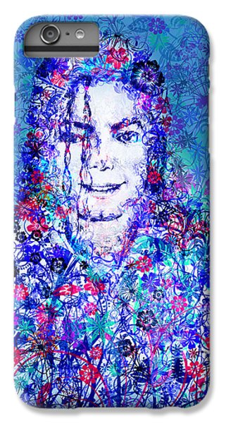 Michael Jackson iPhone 7 Plus Case - Mj Floral Version 2 by Bekim Art