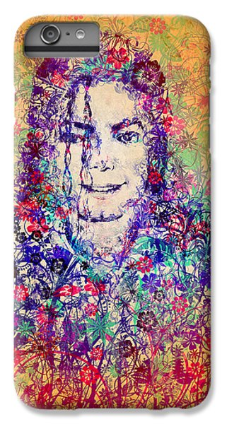 Michael Jackson iPhone 7 Plus Case - Mj Floral Version 3 by Bekim Art