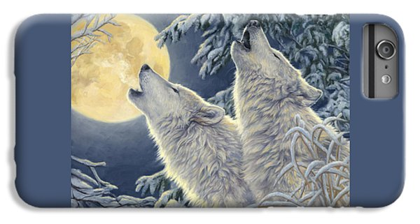 Wolves iPhone 7 Plus Case - Moonlight by Lucie Bilodeau