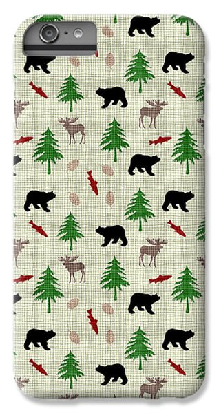 Moose And Bear Pattern IPhone 7 Plus Case by Christina Rollo