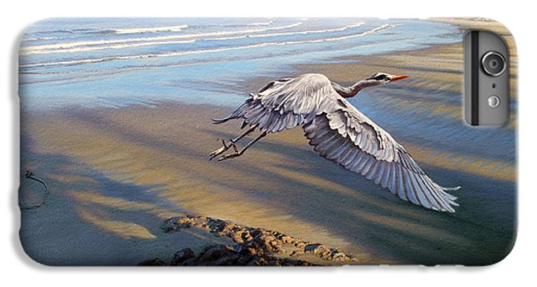 Heron iPhone 7 Plus Case - Morning Fight-blue Heron by Paul Krapf