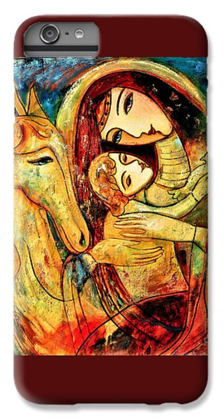 iPhone 7 Plus Case - Mother With Child On Horse by Shijun Munns