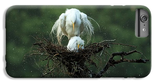 Egret iPhone 7 Plus Case - Motherly Love by Libby Zhang
