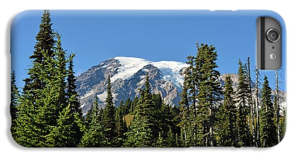 IPhone 7 Plus Case featuring the photograph Mount Rainier Evergreens by Anthony Baatz