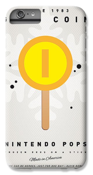 Peach iPhone 7 Plus Case - My Nintendo Ice Pop - Gold Coin by Chungkong Art