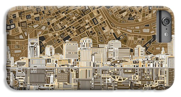 Nashville Skyline Abstract 2 IPhone 7 Plus Case by Bekim Art
