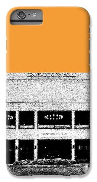 Nashville Skyline Grand Ole Opry - Orange IPhone 7 Plus Case by DB Artist