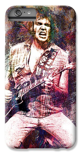 Neil Young Original Painting Print IPhone 7 Plus Case by Ryan Rock Artist