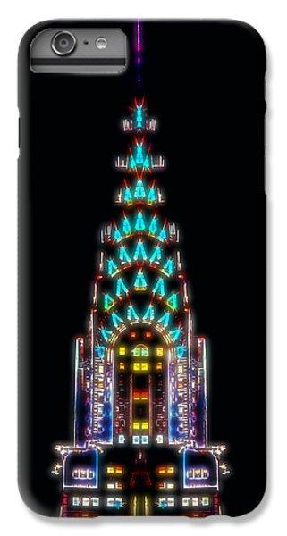 Chrysler Building iPhone 7 Plus Case - Neon Spires by Az Jackson