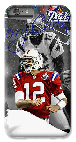 England iPhone 7 Plus Case - New England Patriots Christmas Card by Joe Hamilton