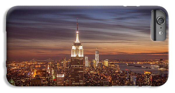 City Sunset iPhone 7 Plus Case - New York City Skyline And Empire State Building At Dusk by Vivienne Gucwa