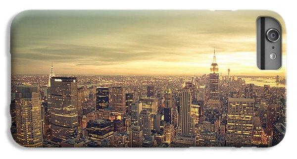 City Sunset iPhone 7 Plus Case - New York City - Skyline At Sunset by Vivienne Gucwa