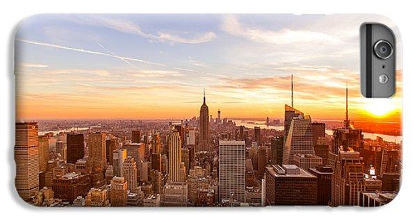 City Sunset iPhone 7 Plus Case - New York City - Sunset Skyline by Vivienne Gucwa