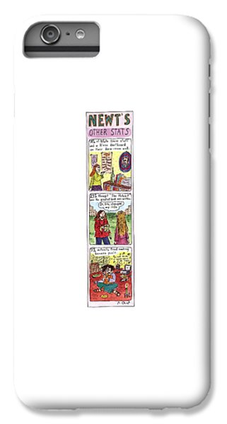 Newts iPhone 7 Plus Case - Newt's Other Stats by Roz Chast