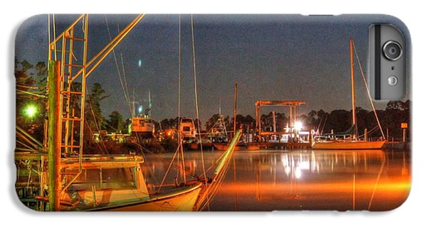 Shrimp Boats iPhone 7 Plus Case - Night In The Harbor by Michael Thomas