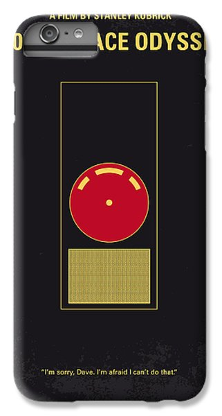 Space iPhone 7 Plus Case - No003 My 2001 A Space Odyssey 2000 Minimal Movie Poster by Chungkong Art
