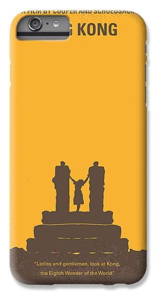 Gorilla iPhone 7 Plus Case - No133 My King Kong Minimal Movie Poster by Chungkong Art