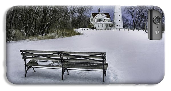North Point Lighthouse And Bench IPhone 7 Plus Case by Scott Norris