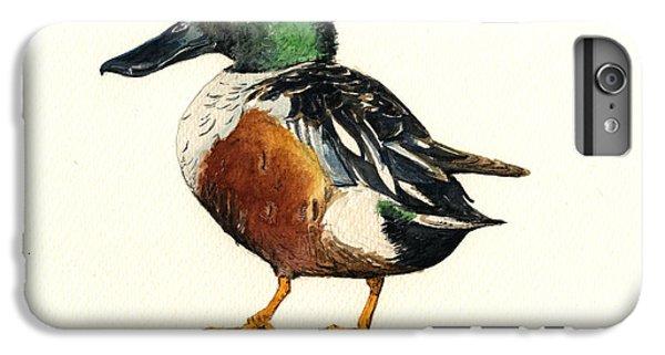 Duck iPhone 7 Plus Case - Northern Shoveler by Juan  Bosco