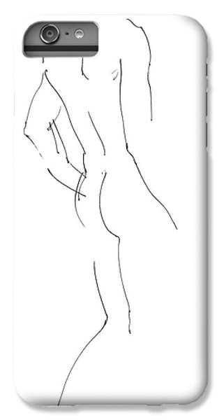 Nudes iPhone 7 Plus Case - Nude Male Drawings 2 by Gordon Punt