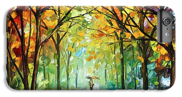 Afremov iPhone 7 Plus Case - October In The Forest by Leonid Afremov