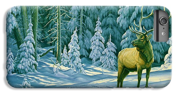 Bull iPhone 7 Plus Case - October Snow by Paul Krapf