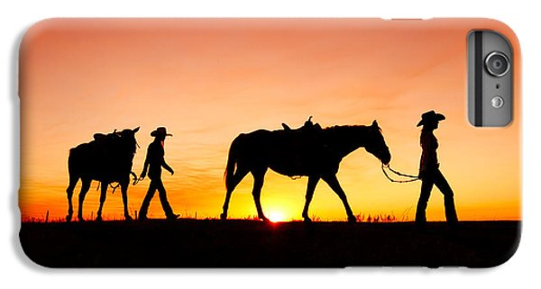 Horse iPhone 7 Plus Case - Off To The Barn by Todd Klassy