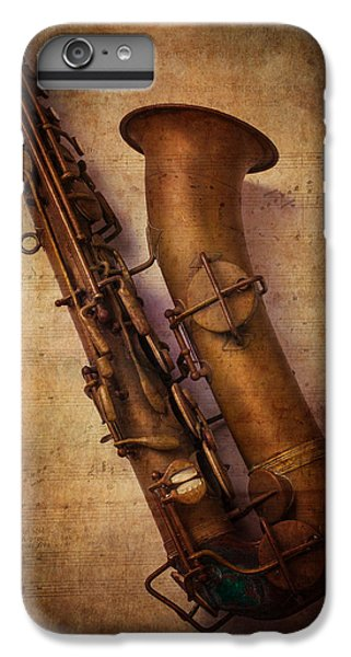 Saxophone iPhone 7 Plus Case - Old Sax by Garry Gay