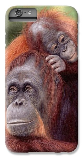 Orangutan iPhone 7 Plus Case - Orangutans Painting by Rachel Stribbling