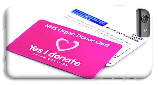 Donation iPhone 7 Plus Case - Organ Donor Cards by Cordelia Molloy