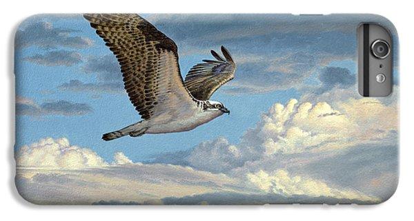 Hawk iPhone 7 Plus Case - Osprey In The Clouds by Paul Krapf