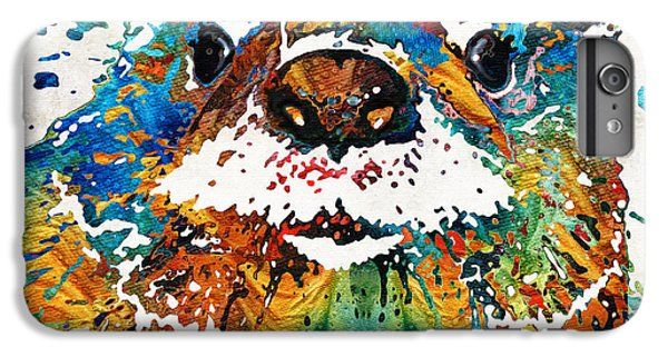 Otter Art - Ottertude - By Sharon Cummings IPhone 7 Plus Case by Sharon Cummings