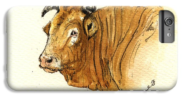 Bull iPhone 7 Plus Case - Ox Head Painting Study by Juan  Bosco