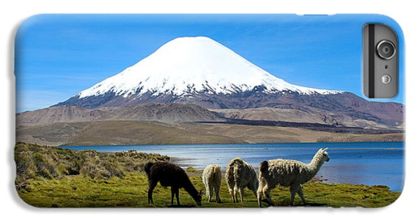Parinacota Volcano Lake Chungara Chile IPhone 7 Plus Case by Kurt Van Wagner